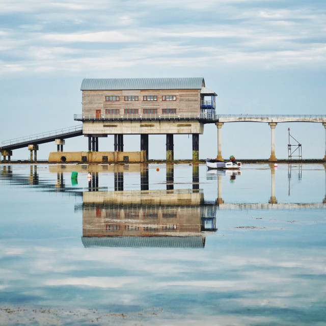 """Bembridge lifeboat station"" stock image"