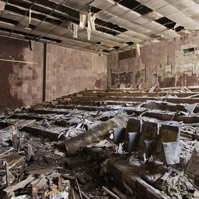 """""""Theatre in Pripyat, nr Chernobyl"""" stock image"""