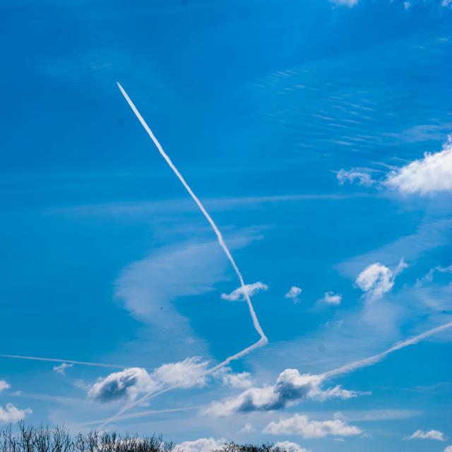 """Springtime landscape and sky"" stock image"