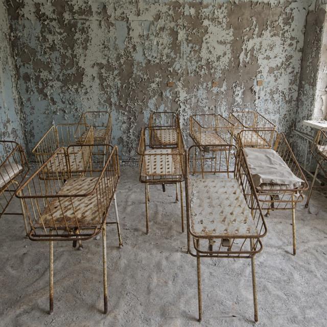"""""""Hospital, Pripyat, nr Chernobyl, Ukraine"""" stock image"""