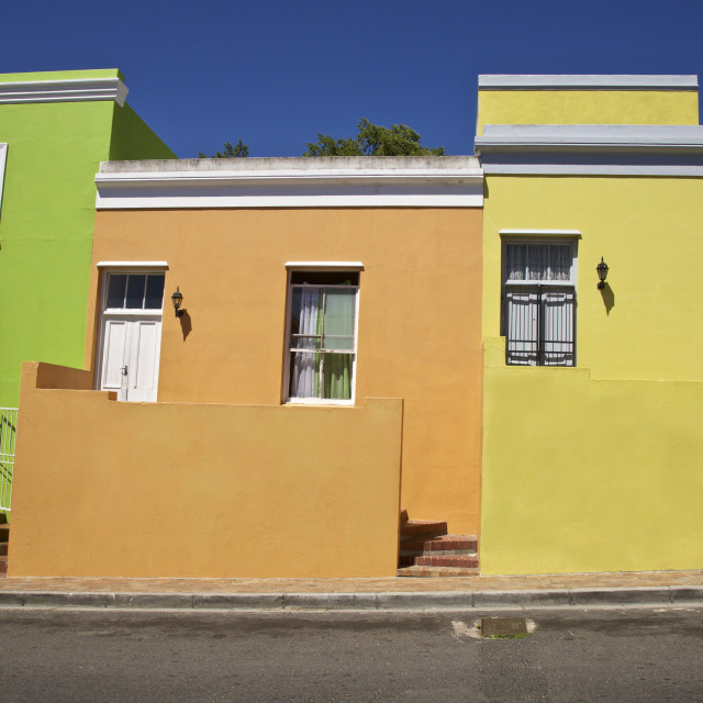 """""""Bo Kaap District Cape Town Western Cape Province, South Africa"""" stock image"""