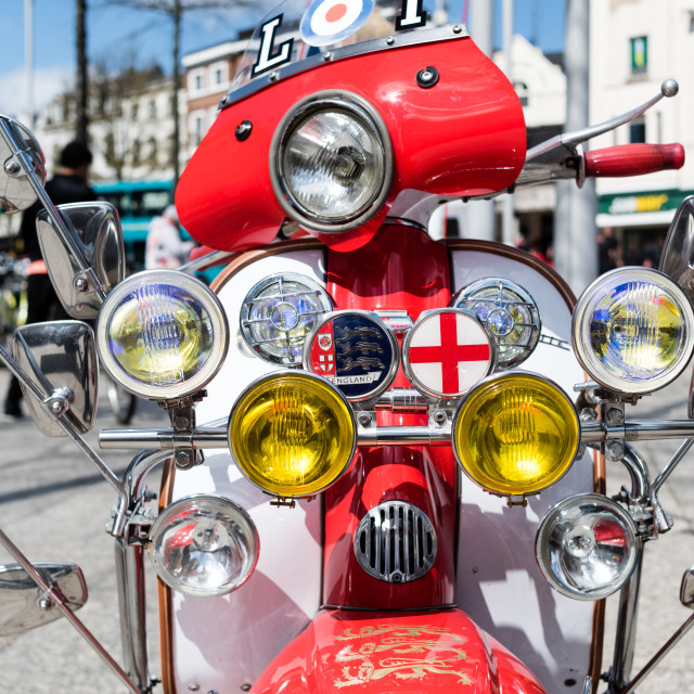 """Lambretta Scooter"" stock image"