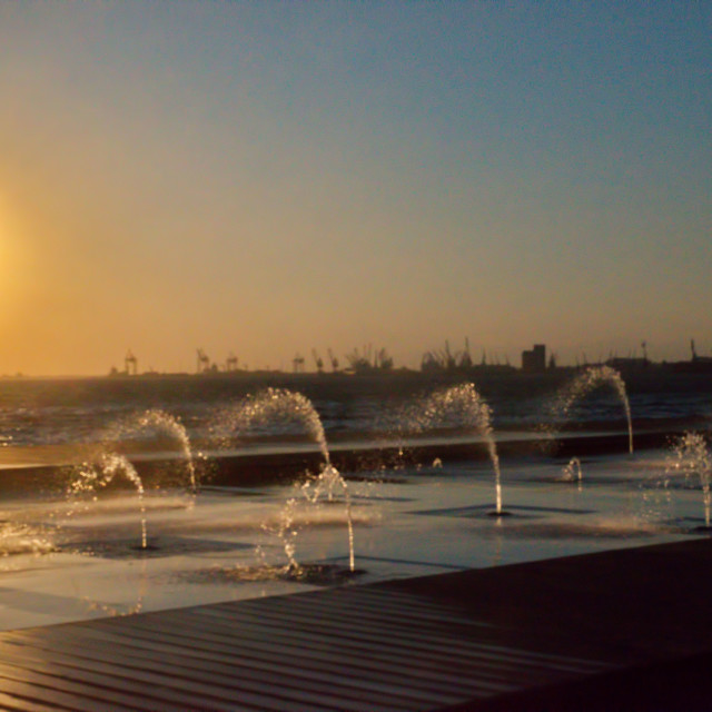 """""""bright sun and water"""" stock image"""