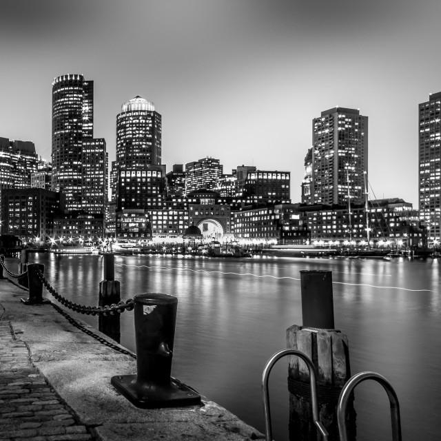 """Boston Harbour"" stock image"