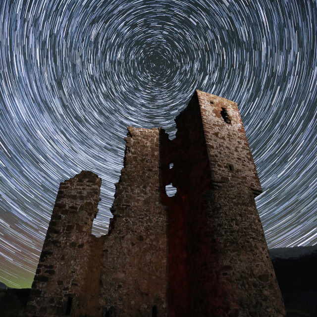 """Stars at Ardvreck Castle"" stock image"
