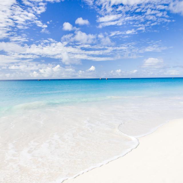 """""""Enterprise Beach, Barbados, Caribbean"""" stock image"""