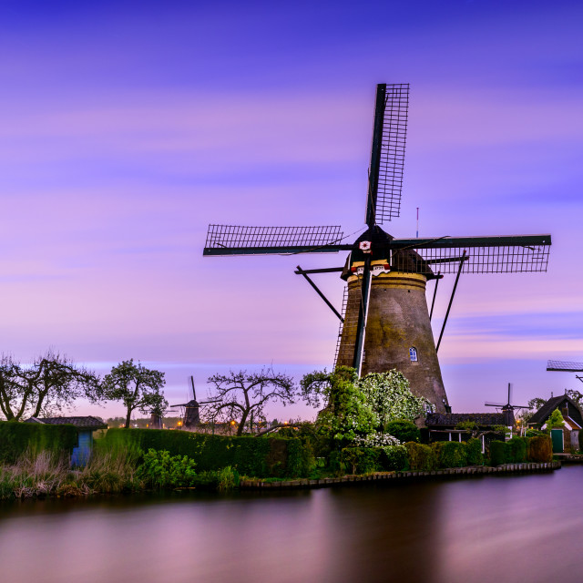 """Typical dutch wind mill in the Netherlands"" stock image"
