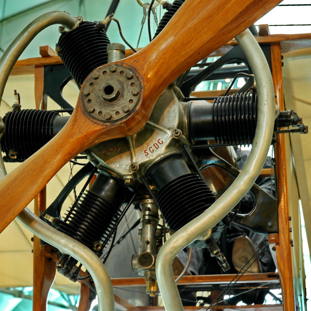 """""""Very old radial engine"""" stock image"""