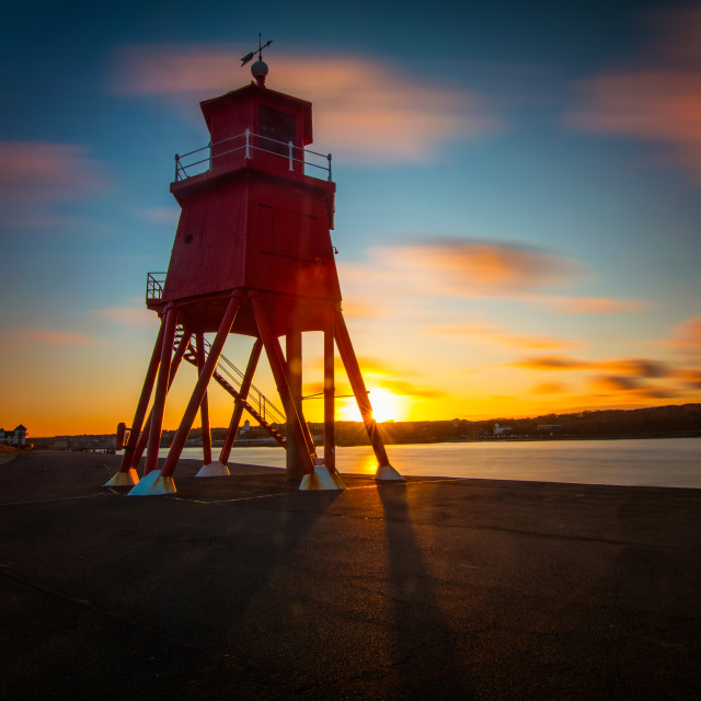 """Sunset At The Groyne"" stock image"