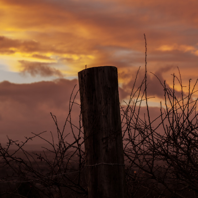 """Sunset Post"" stock image"