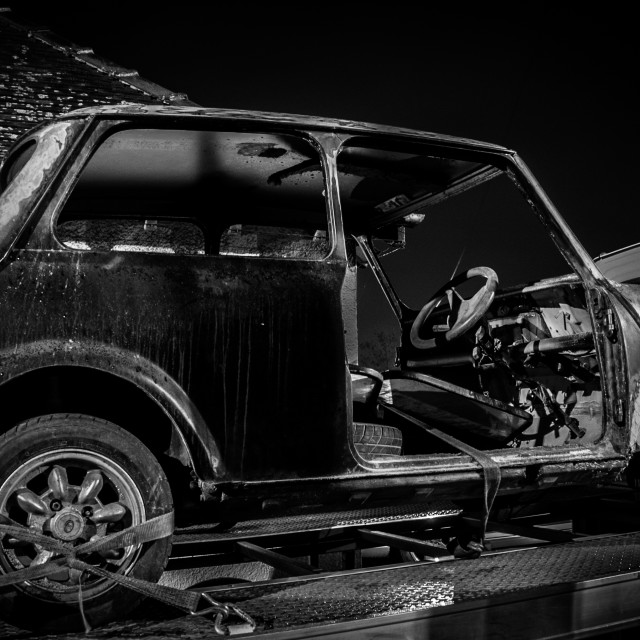"""""""Mini In Need of A Makeover"""" stock image"""