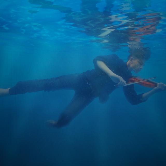 """underwater violin"" stock image"