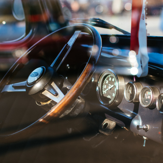 """Vintage ford dashboard"" stock image"