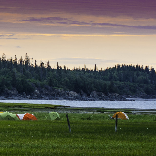 """Tents in Hope, Alaska"" stock image"