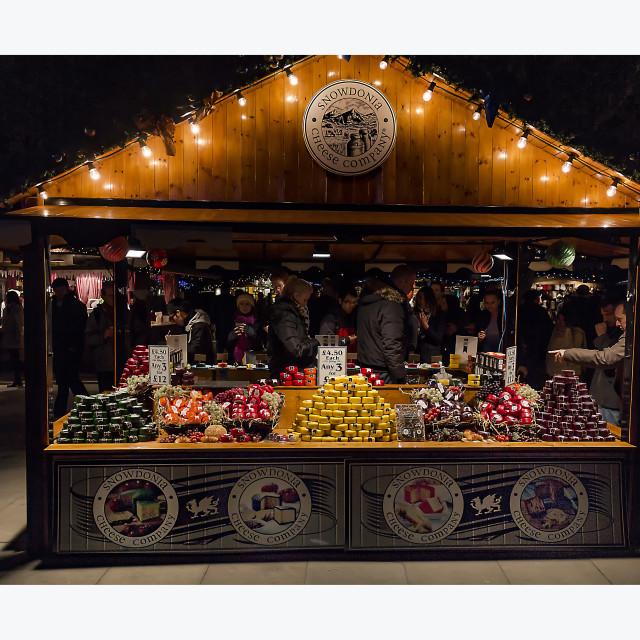 """Cheese Market South Bank London"" stock image"