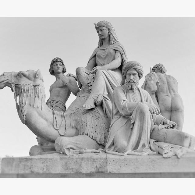 """Allegorical sculptures - Africa"" stock image"