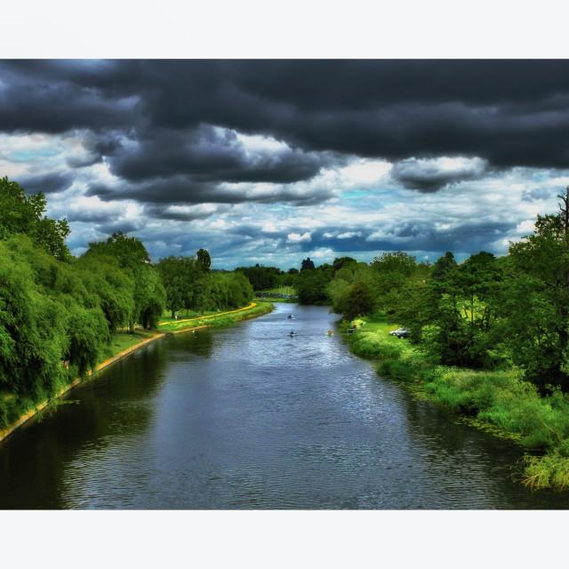 """River Avon Warwick"" stock image"