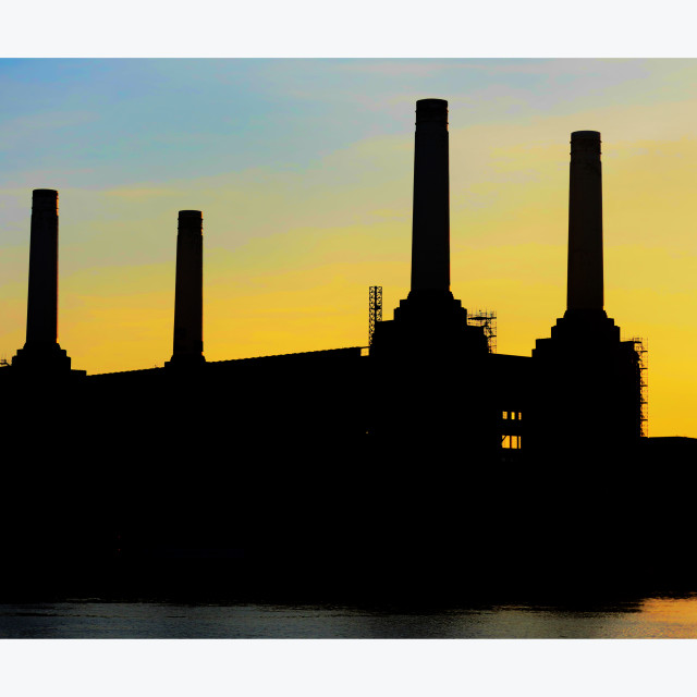 """""""Battersea Power Station at Twilight"""" stock image"""