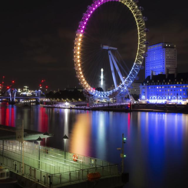 """Eye On The Thames"" stock image"