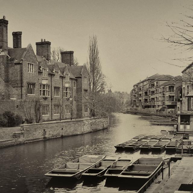 """The River Cam Cambridgeshire"" stock image"