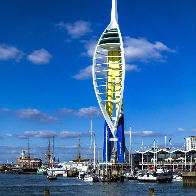 """Spinnaker Tower - Portsmouth"" stock image"