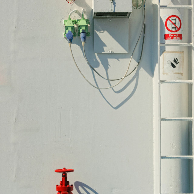"""""""Safety equipment on board"""" stock image"""