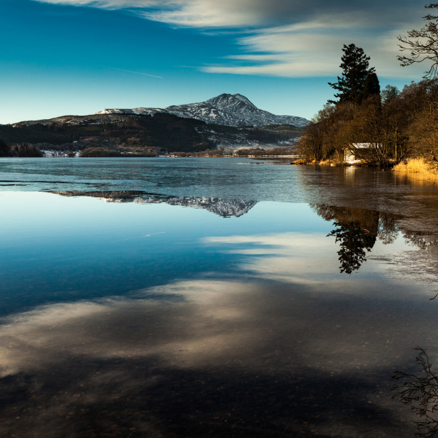 """Loch Ard Winter 4"" stock image"