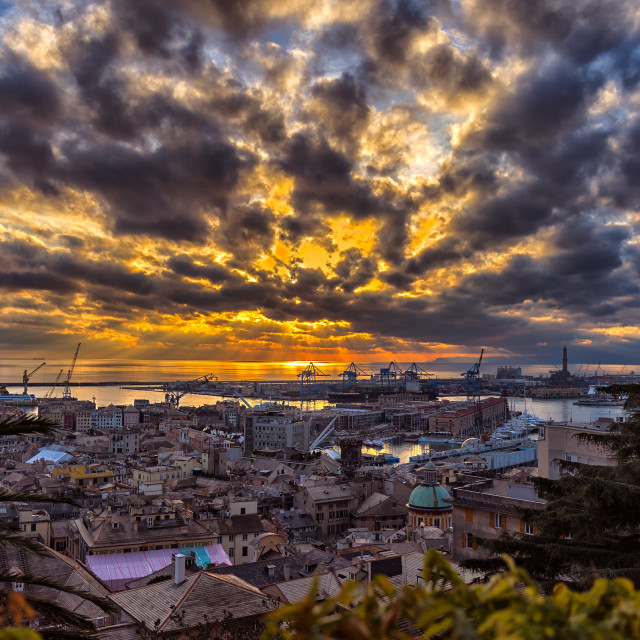 """The skies of Genoa"" stock image"