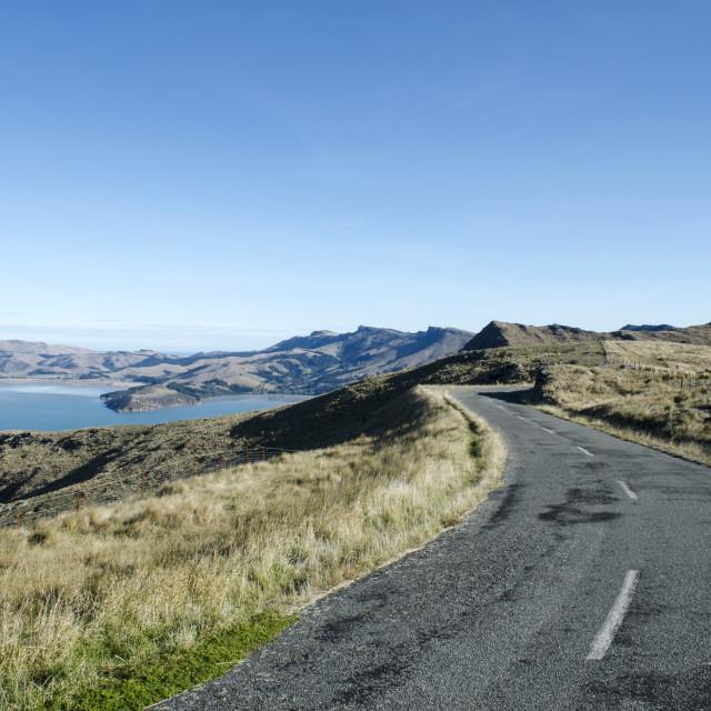 """Summit Road"" stock image"