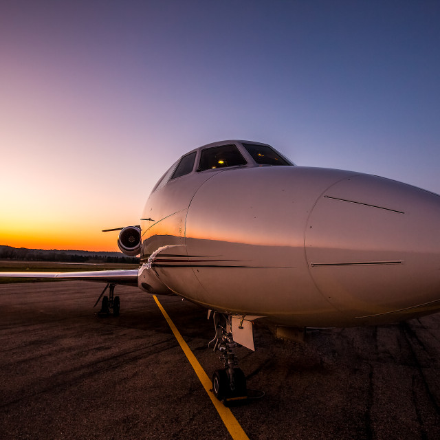 """Sunrise jet"" stock image"