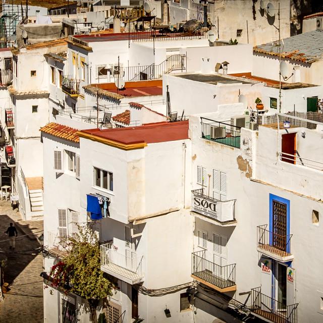 """""""Ibiza town"""" stock image"""