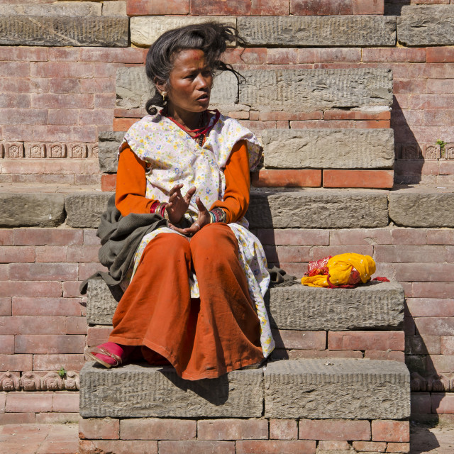 """KATHMANDU WOMAN"" stock image"
