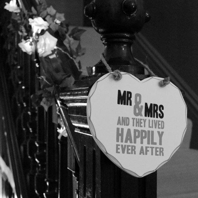 """Mr & Mrs Plaque 0561"" stock image"
