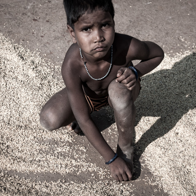 """Indian kid"" stock image"