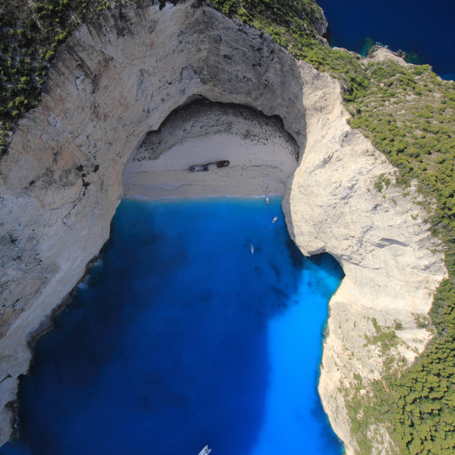 """Aerial view on the island of Zakynthos"" stock image"