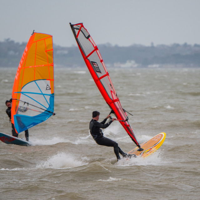 """Windsurfers"" stock image"