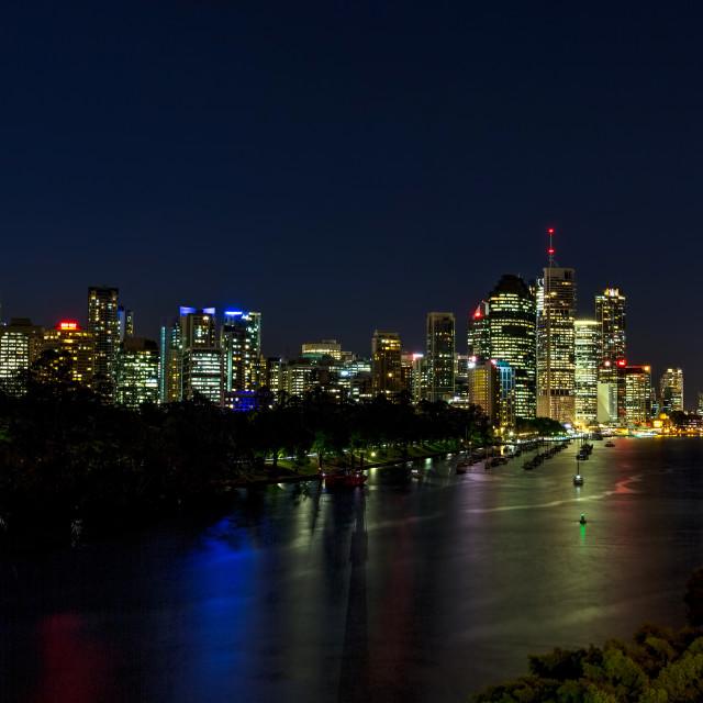 """""""Darkness over Brisbane Queensland"""" stock image"""