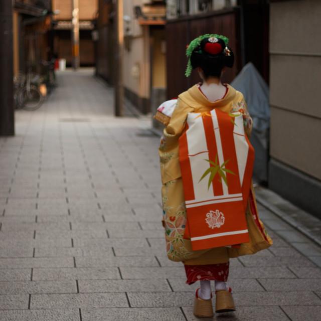 """""""Maiko Running Errands"""" stock image"""