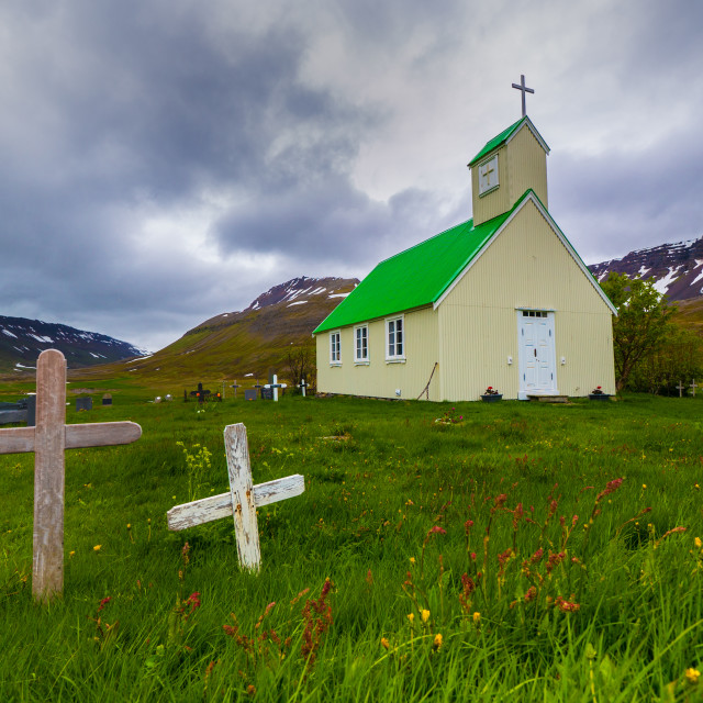 """Lonely church"" stock image"