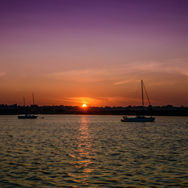 """Essex Sunset- The revisit"" stock image"