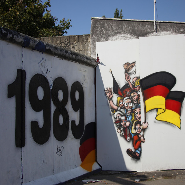 """Berlin Wall 1989"" stock image"