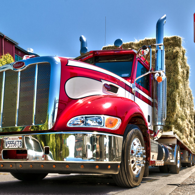 """Loaded haytruck"" stock image"