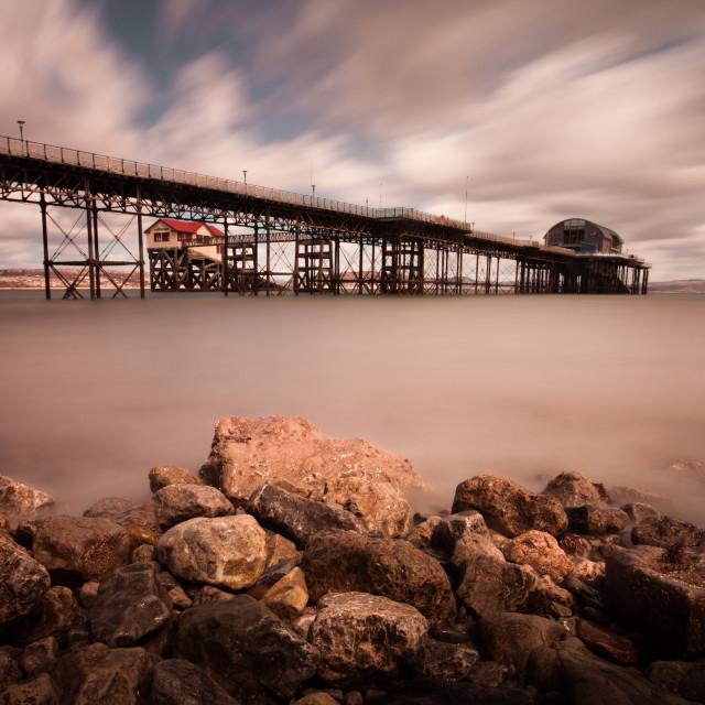 """Mumbles pier Swansea"" stock image"