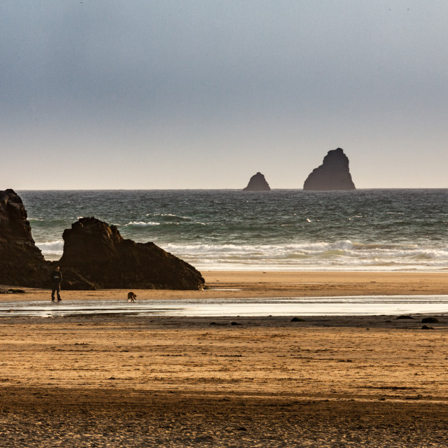 """Cornwall Beach"" stock image"