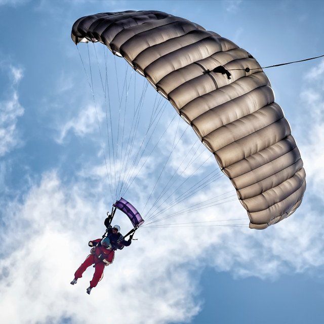 """Skydiving for Charity"" stock image"