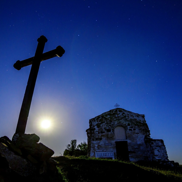 """Chapel of moonlight"" stock image"