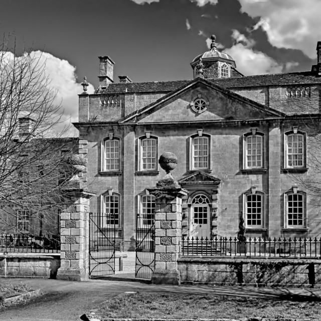 """Harrington House (B&W Version)"" stock image"