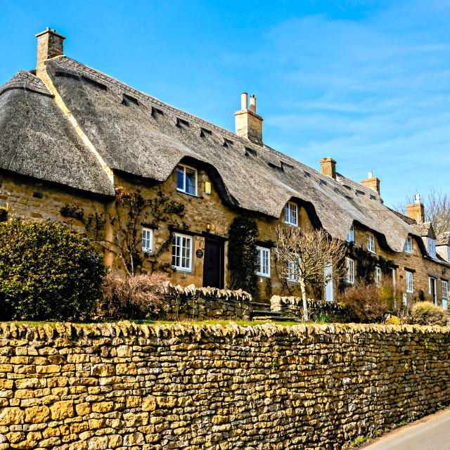 """Cotswold Cottages"" stock image"