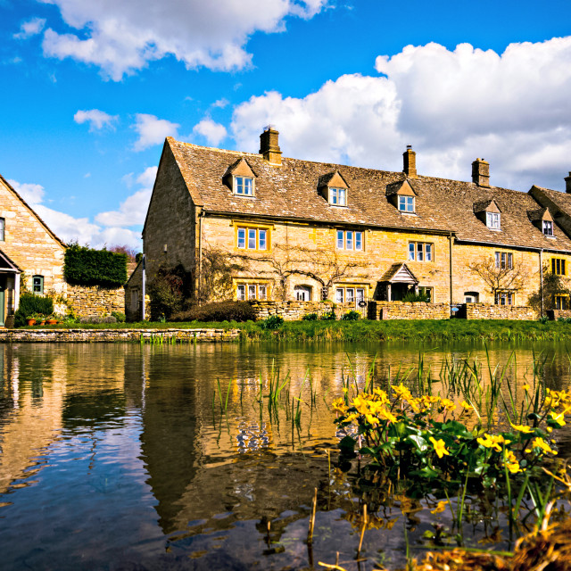 """Lower Slaughter (The Cotswolds)"" stock image"