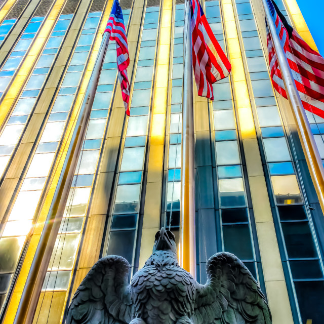 """""""Eagle Statue Outside Madison Square Garden In New York"""" stock image"""